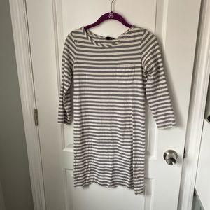 Theory Striped Front Pocket Dress Annabel Small